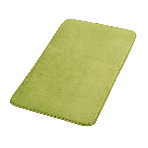 Katherinabade Badezimmer Teppich Badematte aus Memoryschaum, Saugfähig Rutschfest, 40 x 60 cm / 50 x 80 cm / 60 x 90 cm (Grün, 50 x 80 cm)