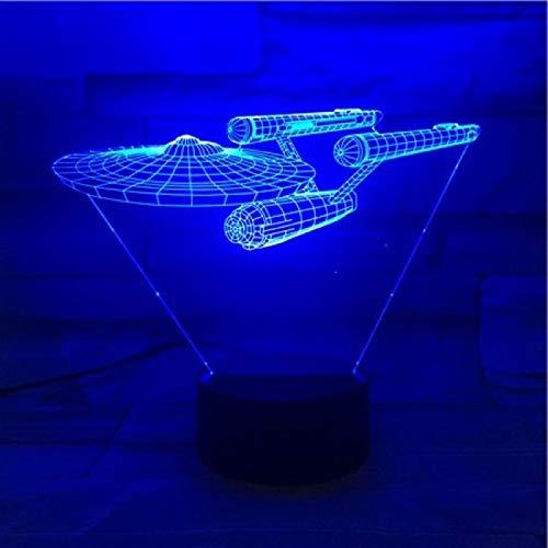 Progressive Gadgets (WangZJ 3d Illusion Nachtlicht/Nachtlicht Für Kinder / 7 Farben Optische Täuschung Lichter/kinderzimmer Dekorative/Progressive anzahl)