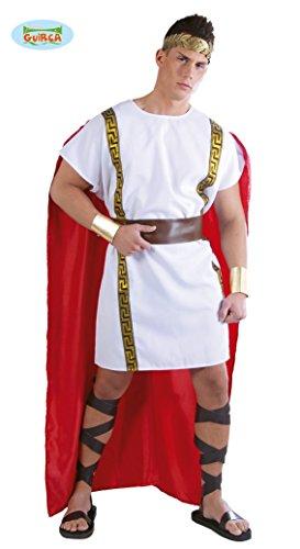 antiker Römer Karneval Motto Party Kostüm für Herren rot weiß Gold Gr. M-XL, Größe:L
