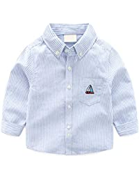 dedd0f7d Toddler Boys Shirts Long Sleeve Baby Embroidered Cotton T-Shirt Tops  Outfits 3-4