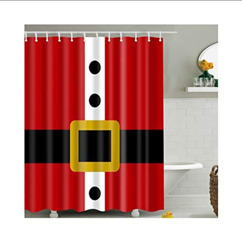 hysxm Weihnachtsmann Anzug Muster Duschvorhang Bunte Umweltfreundliche Polyester Hochwertige Waschbar Bad Dekor Duschvorhang 1 Stücke-180(H)*200(W) cm