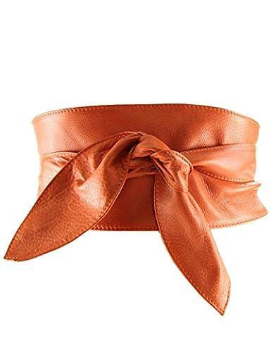 histoireDaccessoires - Ledergürtel für Damen - CE096714-G-OE-Georgia - Orange, T85