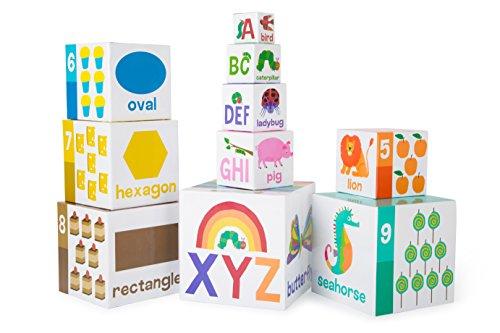 Kids Preferred 10676 Stapelwürfeldie Kleine Raupe Nimmersatt aus Holz, Bestehend aus 10 Bu Preisvergleich
