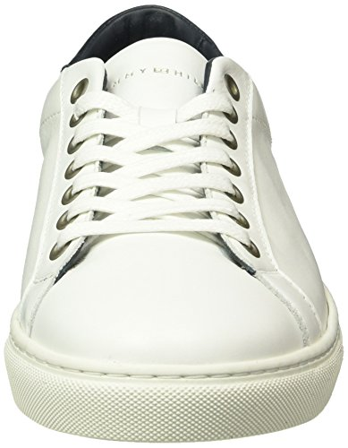 Tommy Hilfiger M2285ount 4a1, Baskets Basses Homme Blanc - Blanc (100)