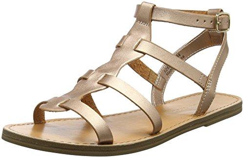 New Look Damen gladius Knöchelriemchen Sandalen, Gold (Rose Gold), 39 EU (Damen-gold-sandalen)
