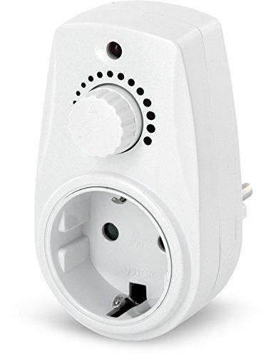 Zwischenstecker mit Drehdimmer 230V - für LED Halogen Glühbirne - ab 25W max. 280W