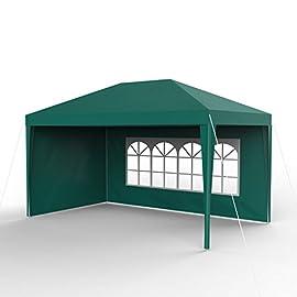 Gazebo da Giardino Gazebo da Esterno in PE Verde 3x6 m Tenda da Festa Tendone da Giardino Festnight Tendone per Feste
