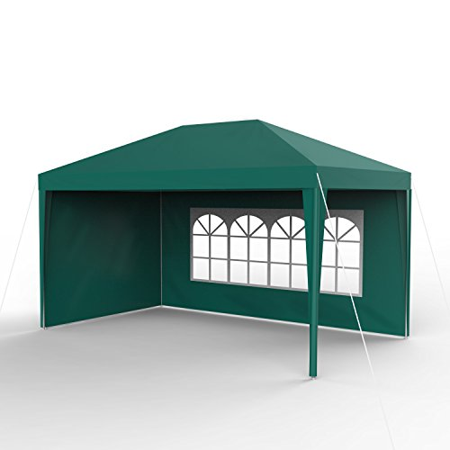 Sekey 3x4m giardino gazebo impermeabile/padiglione da giardino/regolabile / tende da giardino tenda, per giardino/festa / matrimonio/picnic, uv30 +, pareti laterali, verde