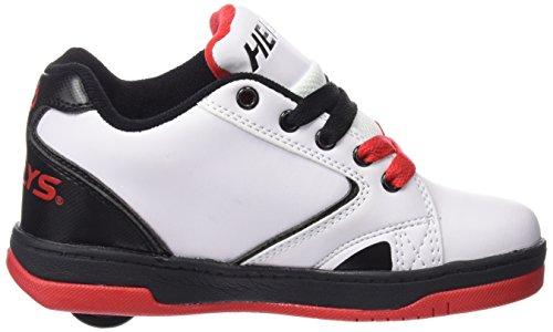 Heelys - Propel 2.0 770599, Scarpe con 1 rotella Bambino Multicolore (White/Black/Red)