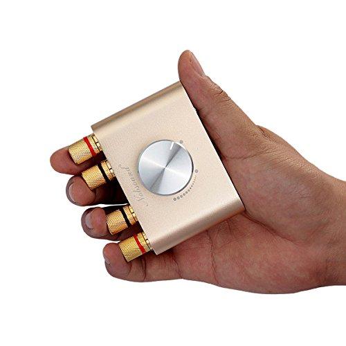 Nobsound Mini Bluetooth Endstufe; Stereo Hi-Fi Digital Amp 2.0 Kanal 50W × 2 mit Aux / USB / Bluetooth Eingang; Wireless Audio Receiver; PC Soundkarte mit Netzteil (Gold)