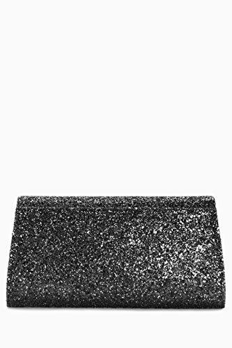 next Donna Pochette A Busta nero glitter
