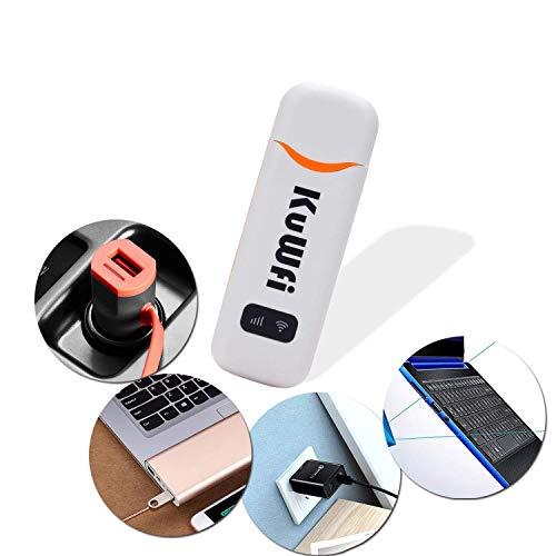 3G / 4G-WLAN-LTE-Dongle, tragbarer USB-Auto-Dongle mit 150 MBit / s und SIM-Kartensteckplatz unterstützt B1 / B3 mit 3 / O2 / EE / Vodafone Outdoor und Indoor am Bus- oder Auto-4G-Dongle-Router
