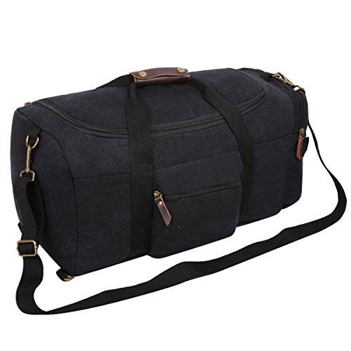 Imagen de eshow marcas de bolsos de viajes de bandoleras de deporte de  de lona de tela para hombres,color negro,disena para viajes