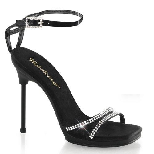 Strass Sandalette, Senhoras, Preto (black)