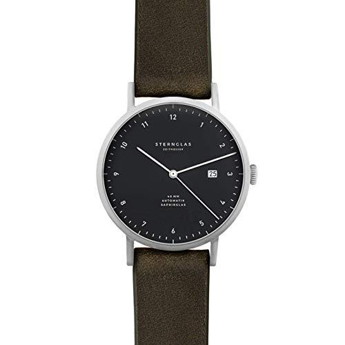 STERNGLAS Zirkel | 40 mm | Automatik Uhr mit Anti-Reflex Saphirglas | Schnellwechselband |...