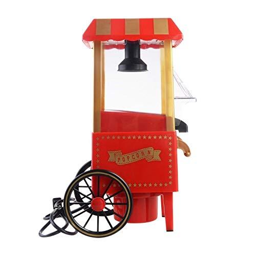 Popcornmaschine Popcorn Maschine für zuhause Popcorn Maker Popcorn-Maschinen Retro-Popcorn-Maschine Heissluft Fettfrei Ölfrei Ohne Fett Party Geschenk