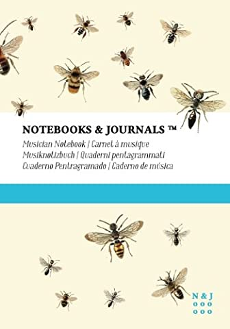 Musician Notebooks & Journals, Bees (Nature Collection) Extra Large, Soft Cover: (7 x 10)(Blank Sheet Music, Music Manuscript Paper, Staff Paper)