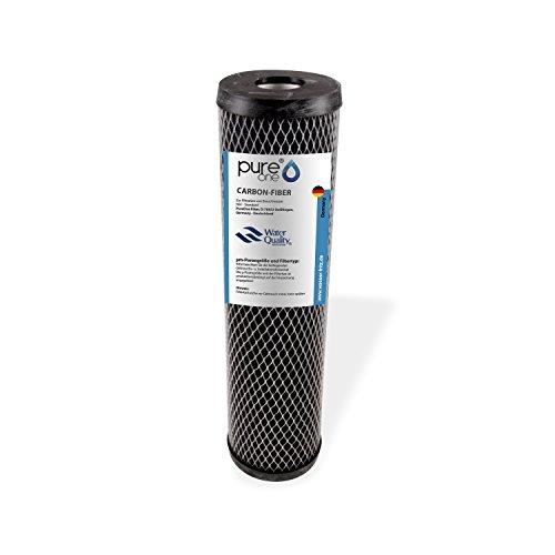 PureOne, cartuccia filtrante in fibra di carbonio, filtro di sedimento non tessuto in carbonio lavabile, varie finiture, per fontane, cisterna, acquedotto domestico e stagni, alloggiamento per filtri d'acqua da 10pollici