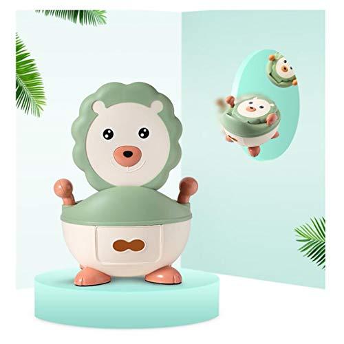 LLRDIAN Toilette pour enfants extra-large, toilette pour bébé, pot d'enfant en bas âge, urinoir pour bébé, urine pour bébé (Couleur : Green)