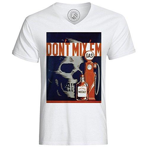 T-Shirt Don t Mix Them Danger Retro Vintage Poster Danger Gas Alcool