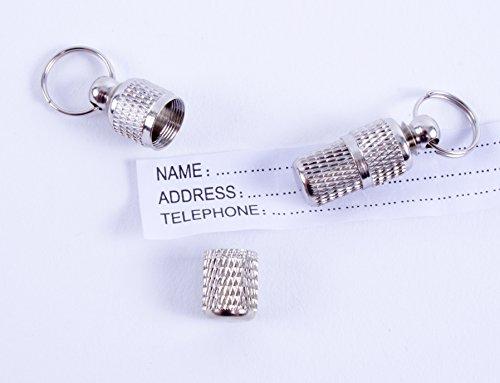 2 geriffelte Adressanhänger für Katzen und Hunde geeignet / Hübscher Halsbandanhänger aus Metall (2 Stück Packung) - 5