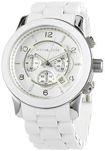 Reloj Michael Kors MK8108 de cuarzo para hombre con correa de acero inoxidable, color blanco de Michael Kors