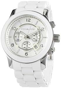 Michael Kors Herren-Armbanduhr XL Chronograph Quarz Silikon MK8108