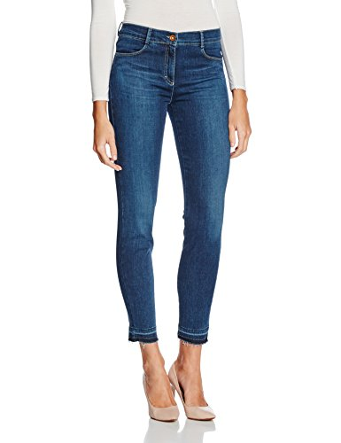 BRAX Damen Jeanshose Shakira Fringe Blau (Blue Wave 24), W34/L32 (Herstellergröße: 44) (Wave-pocket-jean)