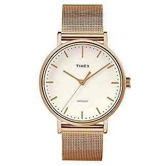 Timex Reloj Analógico para Mujer de Cuarzo con Correa en Acero Inoxidable TW2R26500