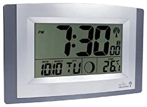 Acctim Stratus radio controlled wall clock with large LCD display showing tim...