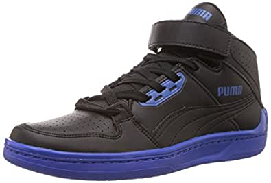 Puma Men's Unlimited Mid DP Black-Dazzling Blue Running Shoes - 10UK/India (44.5EU)