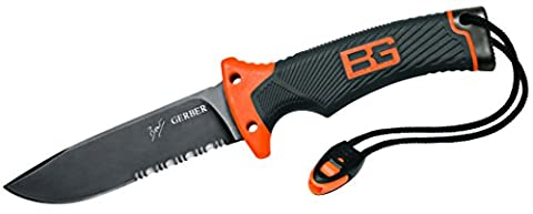 Gerber GE22-31-000751 Bear Grylls Ultimate Couteau Orange/gris - Guida Tascabile Sopravvivenza