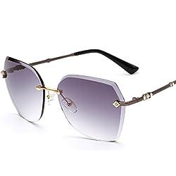 Allright Retro Eyeware Sonnenbrille Frauen Vintage Bunte Linse Sommer Mode Sonnenbrille üBergroßEn Grau & Schwarz