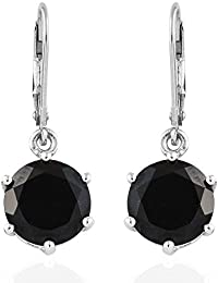 41f32aba4 TJC Black Tourmaline Drop Dangle Earrings for Women In Platinum Plated  Sterling Silver