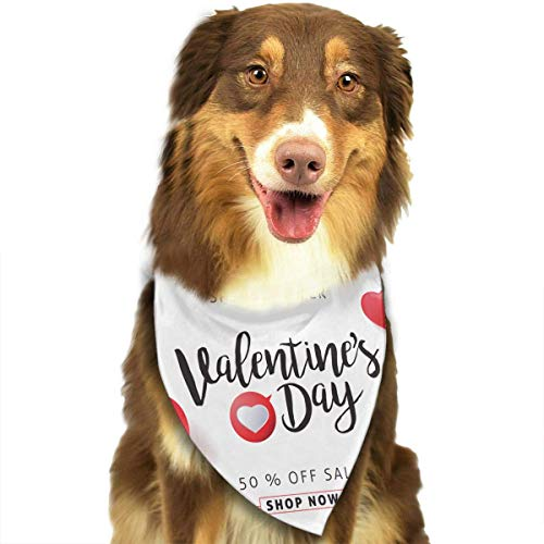 Gxdchfj Valentine's Day Balloon Fashion Dog Bandana Pet Accessories Easy Wash Scarf
