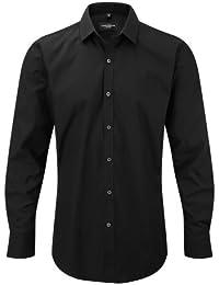 7eeb5fed6 Russell - Camisa Transpirable de Manga Larga elástica Hombre Caballero -  Trabajo Fiesta Verano