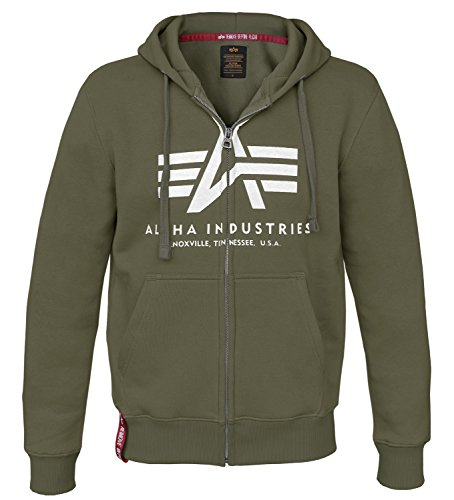 Alpha Ind. Basic Zip Hoody Kapuzen Sweater Dark Green