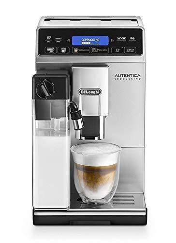 De'Longhi Autentica Cappuccino ETAM 29.660.SB - Superautomatische Kaffeemaschine, 1450 W, Lattecrema-System, verschiedene automatische Rezepte, LCD-Textanzeige und Touchpanel, Silber