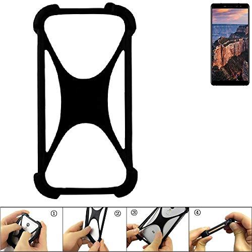 K-S-Trade Handyhülle für M-Horse Pure 1 Schutz Hülle Silikon Bumper Cover Case Silikoncase TPU Softcase Schutzhülle Smartphone Stoßschutz, schwarz (1x)