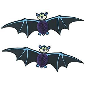 Generique 2 decorazioni da appendere pipistrelli for Decorazioni halloween da appendere