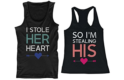 c7259bc5 mr and mrs shirts by couples apparel. 365 In Love I Stole Her Heart, So I'm  Stealing His Couple playera