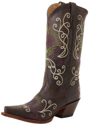 Tony Lama Boots Calla Espresso Tucson Damen Cowboystiefel Gr. 7US / 37EU / 23,5cm (Boots Tony Frauen Für Lama)