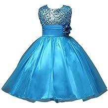 Vestido de niña, RETUROM Vestido de la princesa de la fiesta de cumpleaños de la boda del desfile de la muchacha de la manera o vestido de la dama de honor