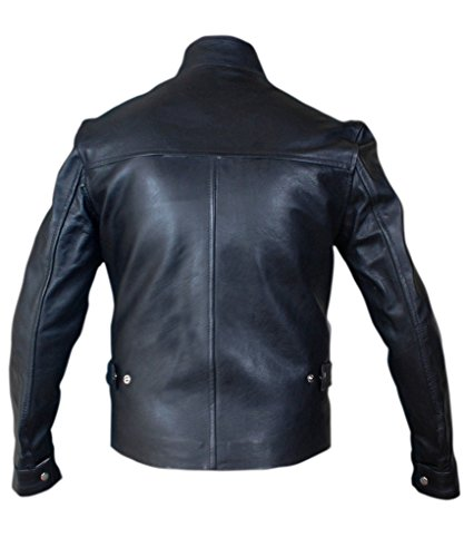 F&H Men's Fast And Furious Vin Diesel Genuine Leather Jacket Black