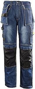 Hommess Pro Pantalons de Travail Pantalons Cordura Genou Travail Pantalons Cargo Combat Travailleur Tailles comme Dewalt 30-42
