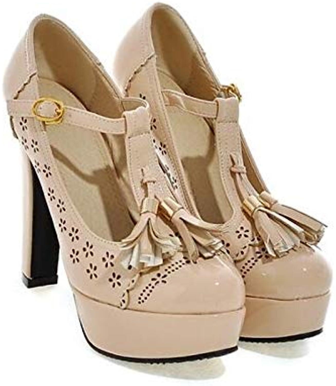 ZHZNVX Scarpe da Donna PU (Poliuretano) Spring Basic Pump Heels Heels Heels Tacco a Spillo Nero Beige   Almond, Almond, US6... | lusso  b1ab7f