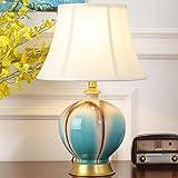 Amerikanische tischlampe, Kreativ, Europäische, Nachttischlampe schlafzimmer, Für wohnzimmer, Studie, Schlafzimmer, Retro, Keramik tischlampe-B 53x25cm(21x10inch)