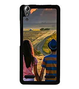 Vizagbeats couple watching clouds Back Case Cover for LENOVO A6000