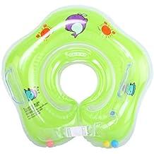 E-db Flotador Cuello Bebe Ajustable Inflable Doble Airbag Flotador Cuello para 1-18