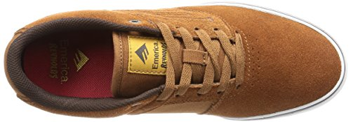Emerica The Reynolds Low Vulc, Chaussures de skateboard homme Marron (Brown White Gum 218)